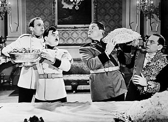 Henry Daniell - Henry Daniell (left) in Chaplin's The Great Dictator with Charlie Chaplin, Jack Oakie and Carter DeHaven