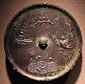 Dinastia tang, specchio con personificazioni della purezza e dell'immortalità (monte penglai, boya che suona il qin, stagno di loto e fenici danzanti), viii sec.jpg