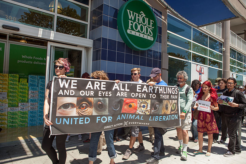 File:Direct Action Everywhere protest at Whole Foods Market.jpg