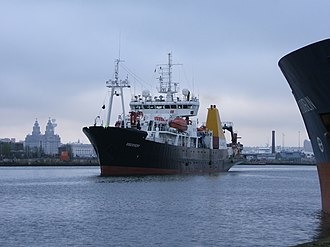 RRS Discovery (1962) - Image: Discovery Mersey