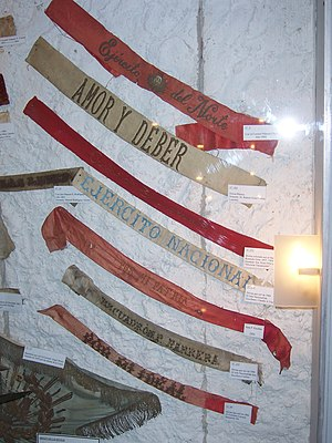 Uruguayan Civil War - Historic armbands of the Whites and Colorados