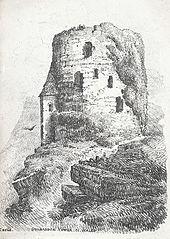 Dolbadden i.e. Dolbadarn Tower. N. Wales