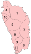 Dominica parishes numbered