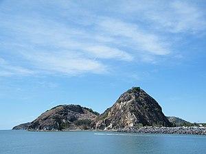 Capricorn Coast - Double Head volcanic plug near Rosslyn Bay Marina.