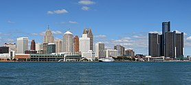 Downtown Detroit, Michigan from Windsor, Ontario