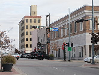 Killeen – Temple – Fort Hood metropolitan area - Image: Downtown Temple, TX at Main Street IMG 2384
