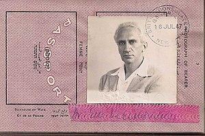 Immanuel Velikovsky - Dr.Immanuel Velikovsky 1947 passport photo.