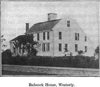 Joshua Babcock - Babcock-Smith House in Westerly
