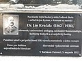 Dr Jan Kvačala plaque in Bački Petrovac.jpg