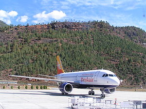 Druk Air - Druk Air Airbus A319 at Paro Airport