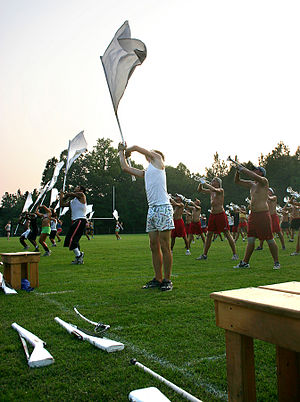 Drum and bugle corps (modern) -  A Blue Stars practice.