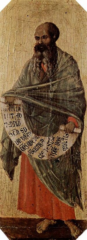 Malachi - The Prophet Malachi, painting by Duccio di Buoninsegna, c. 1310 (Museo dell'Opera del Duomo, Siena Cathedral).