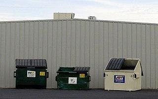 Dumpster type of mobile garbage bin