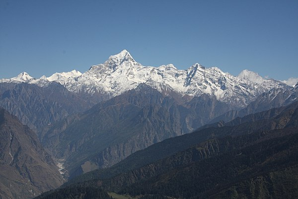 Le Mont Dunagiri (By Tkx via Wikimedia Commons)