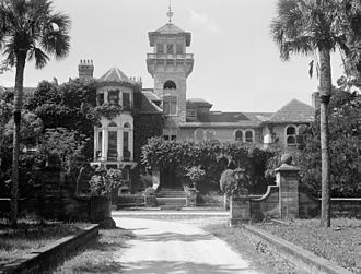 Cumberland Island - Dungeness Mansion prior to 1959 fire on Cumberland Island National Seashore