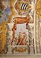 Duomo di viterbo, interno, coro dei canonici, con affreschi di giuseppe passeri, 1683, 07 carità.jpg