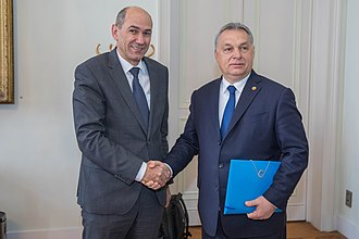 Janez Janša - Janša with one his closest allies, Viktor Orbán on the EPP Summit, 22 March 2018