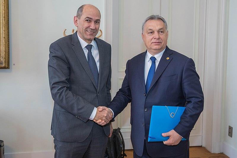 Янез Янша и его ближайший политический союзник Виктор Орбан.