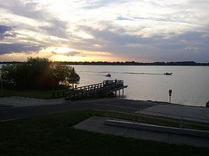 Eagle Lake, Florida - Overlooking Eagle Lake at sunset.