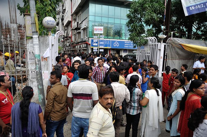Earthquake Leads Office Evacuation - Ashram - Sector-V - Salt Lake City - Kolkata 2015-04-25 5980.JPG