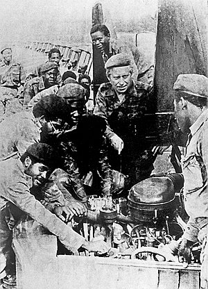 Angolan Civil War - Communist military advisors with MPLA troops in Angola, 1983