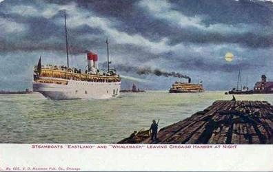 Eastland Christopher Columbus leaving Chicago ca1912