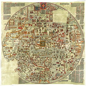 Mappa mundi - The Ebstorf Map, about 1235.
