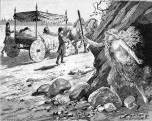 Helreið Brynhildar - Illustration by Jenny Nyström.
