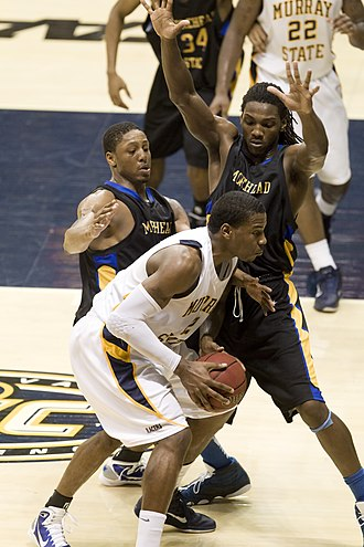 Kenneth Faried - Faried in a game while at Morehead State