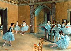 Edgar Degas: Le Foyer de la danse à l'Opéra de la rue Le Peletier