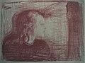 Edvard Munch. The Sick Child I (Det syke barn I). 1896 — Lithograph (24779970420).jpg