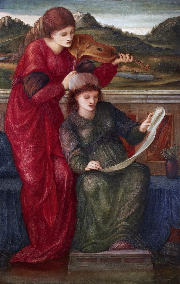 Edward Burne-Jones, %E2%80%98Music%E2%80%99, 1877. Oil on canvas