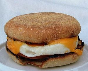 English: McDonald's Egg McMuffin breakfast san...