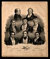 Eight famous French doctors. Lithograph by J.F.G. Llanta. Wellcome V0006757.jpg