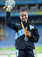 Elena Chebanu. Athletics at the 2016 Summer Paralympics – Women's long jump 10.jpg