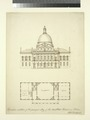Elevation and plan of the principal story of the new state house in Boston (NYPL Hades-118286-54232).tif