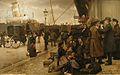 Emigrants at Larsens Plads (1890).jpg