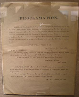 Emperor Norton - One of Norton's undated proclamations