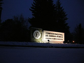National Atomic Energy Commission - Centro Atómico Bariloche entrance.