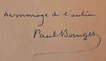 Signature de Paul Bourget