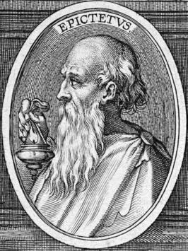Gravure Epictetus uit de L. Annaei Senecae philosophi Opera door Theodoor Galle, 1605