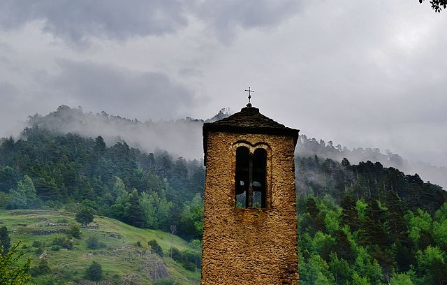 2nd place: Church tower of Sant Martí de la Cortinada