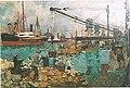 Eugène Chigot (1860-1923), Le port de Calais (1917) , oil, on canvas, 37 x 54 cm.jpg