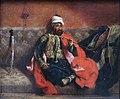 Eugène Delacroix, Turc fumant, assis sur un divan.jpg
