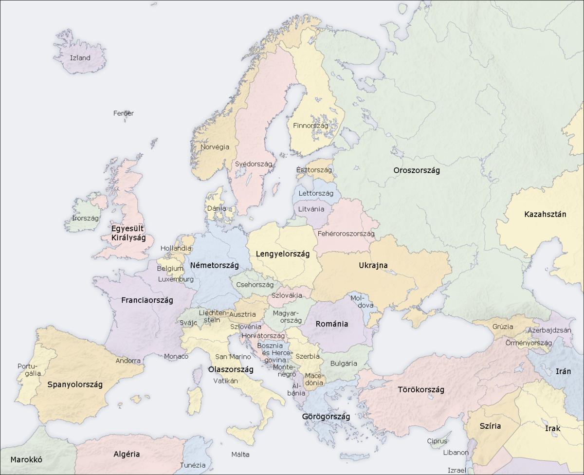 európa térkép fővárosokkal Európa országai – Wikipédia európa térkép fővárosokkal