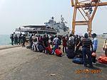 Evacuees queue up for boarding INS Tarkash (02).jpg