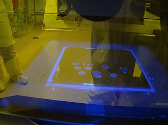 University of Alabama in Huntsville - An experiment running in a lab in UAH (July 2009)
