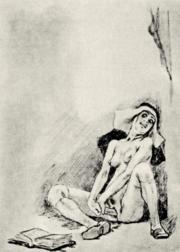 Caricatura del siglo XIX por el pintor y caricaturista belga Félicien Rops.