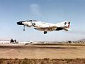 F-4N Phantom II of VF-202 landing at NAS Miramar 1977.jpg