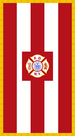 Alternate flag of the FDNY, used for memorial services